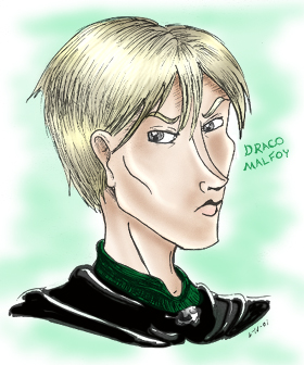 Draco Malfoy (colour) © by Alice Wack