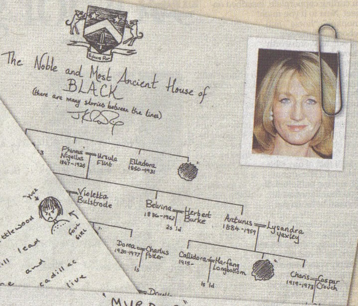 JKR's Black Family Tree, as printed in The Daily Telegraph, January 28, 2006