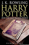 (UK adult edition) cover of Harry Potter and the Half-Blood Prince.