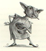 Dobby the House Elf, copyright Mary Grand Pre.