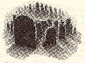 Little Hangleton cemetary, HP and the Goblet of Fire, by Mary GrandPre