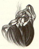 Quirrell Unwraps his turban (HP and the Philosoper's Stone) by Mary GrandPre