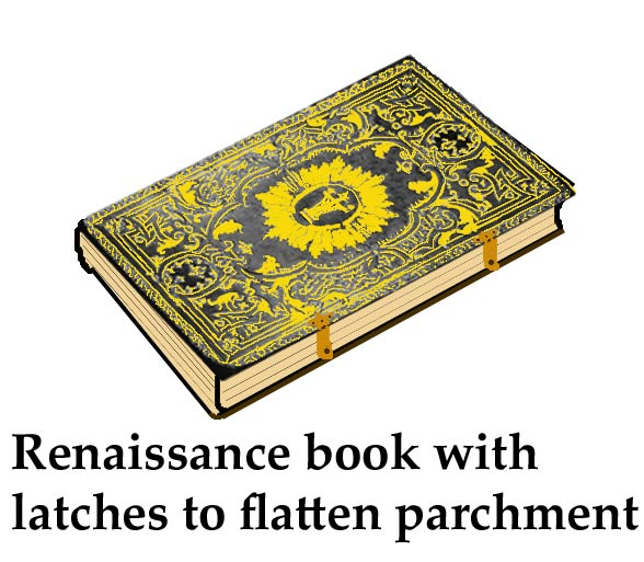 Renaissance book with latches to flatten parchment