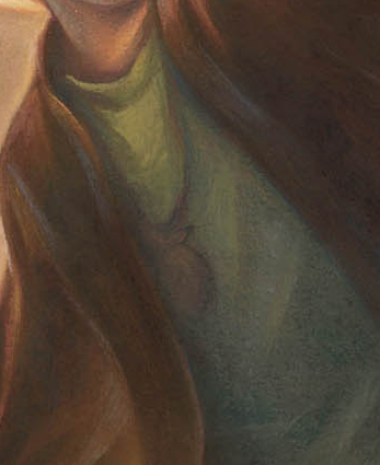 Detail of Harry's chest from Harry Potter and the Deathly Hallows, cover art for U.S. edition.