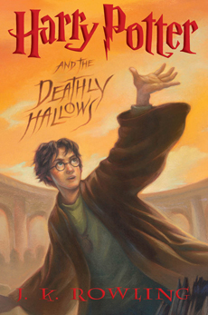 Harry Potter and the Deathly Hallows, cover art for U.S. edition, front.
