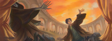 Harry Potter and the Deathly Hallows, cover art for U.S. edition.