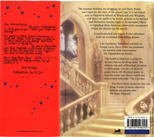 Bloomsbury edition, back cover