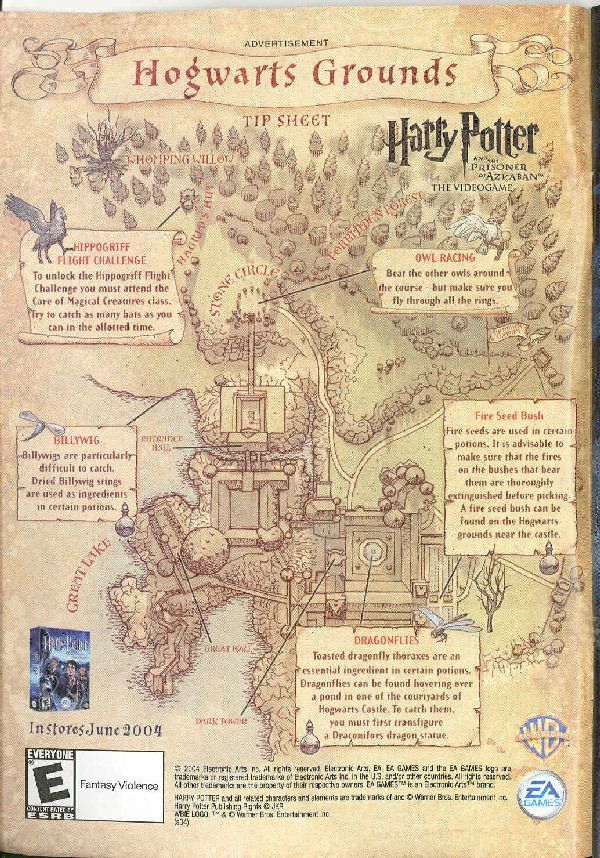 Prisoner of Azkaban video game map (200k)