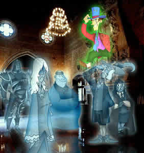 The ghosts of Hogwarts, copyright Edgar Torne.