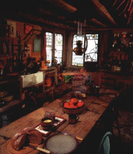 kitchen of the Burrow in the film