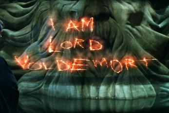 """""""I am Lord Voldemort"""" Movie still from Warnoer Brothers' Harry Potter and the Chamber of Secrets."""""""