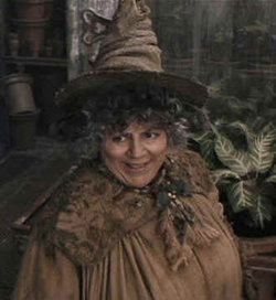 Mirian Margolyes as Professor Sprout, copyright Warner Brothers.