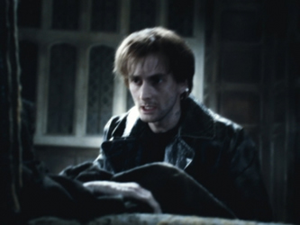 David Tennant as Barty Crouch, Jr., photo courtesy of Warner Brothers.