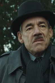 Roger Lloyd-Pack as Barty Crouch, Sr., photo courtesy of Warner Brothers.
