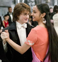 Harry and Parvati at the Yule Ball, courtesy of Warner Brothers films.