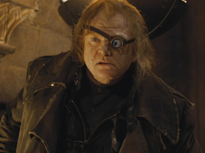 Brendan Gleeson as Mad Eye Moody, courtesy of Warner Brothers.