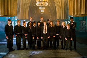 Dumbledore's Army, courtesy of Warner Brothers.