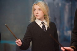 Evanna Lynch as Luna Lovegood, copyright 2006 Warner Brothers.