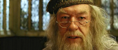 "Michael Gambon as Dumbledore, from ""Harry Potter and the Prisoner of Azkaban."""