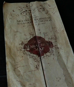 Marauder's Map, courtesy of Warner Brothers.