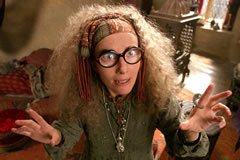 Emma Thompson in the role of Sybil Trelawney.