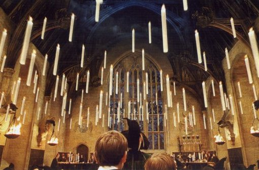 the Great Hall, lit by floating candles - PS/f