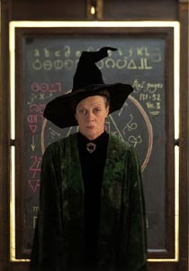 MCGONAGALL AS PLAYED IN THE MOVIES BY DAME MAGGIE SMITH.