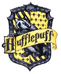 Hufflepuff blazon: or, a badger sable