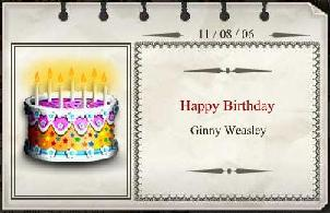Ginny's birthday card