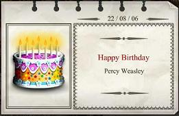 Percy's birthday card