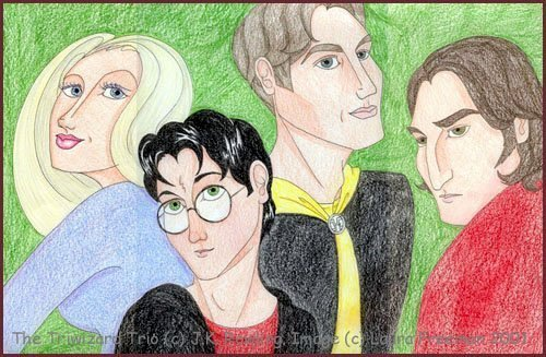 The Four Champions (a.k.a. the Triwizard Trio) © 2001 by Laura Freeman