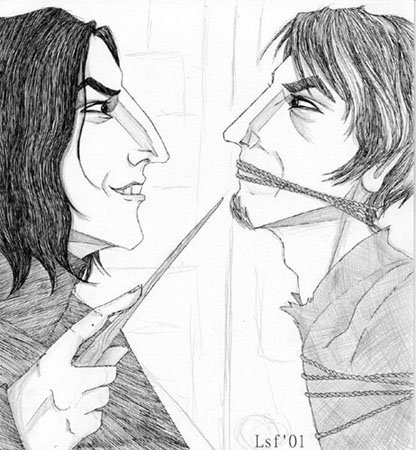 Snape Binds Lupin © 2001 by Laura Freeman
