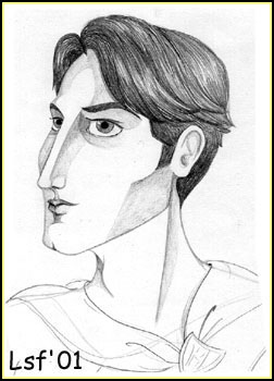 Cedric Diggory © 2001 by Laura Freeman