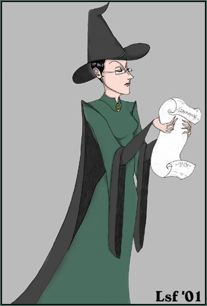 McGonagall with list © 2001 Laura Freeman