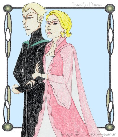 Draco and Pansy at the Yule Ball © 2001 by Laura Freeman