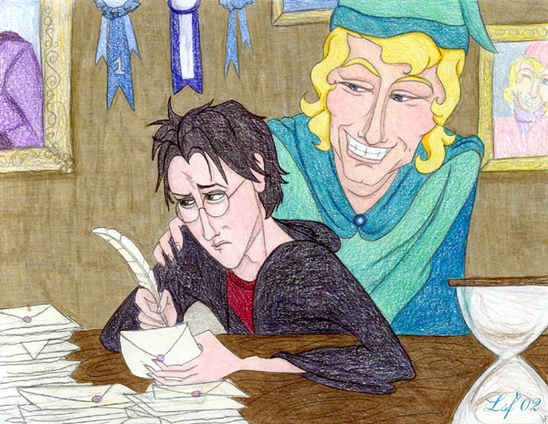 Answering Lockhart's Fanmail © Laura Freeman