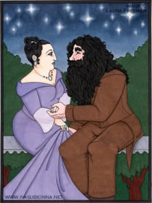 Mme Maxime and Hagrid, copyright Laura Freeman.