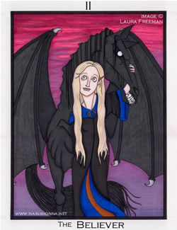 The Believer (Luna Lovegood) Tarot card, copyright Laura Freeman.
