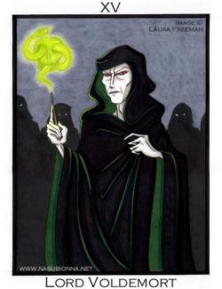 Tarot No. 15: Lord Voldemort, copyright Laura Freeman.