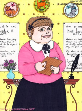 Dolores Umbridge, copyright Laura Freeman, 2006.