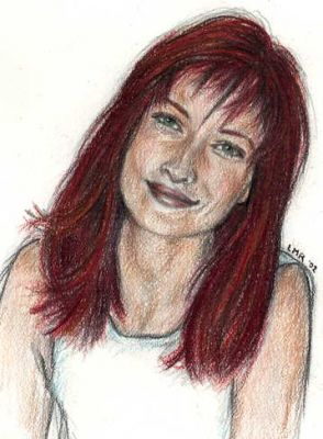 Lily Potter, a drawing by Lisa M. Rourke.