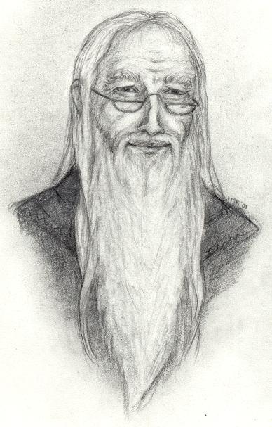 Albus Dumbledore copyright Lisa M. Rourke.