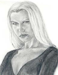 Narcissa Malfoy drawing by Lisa M. Rourke.
