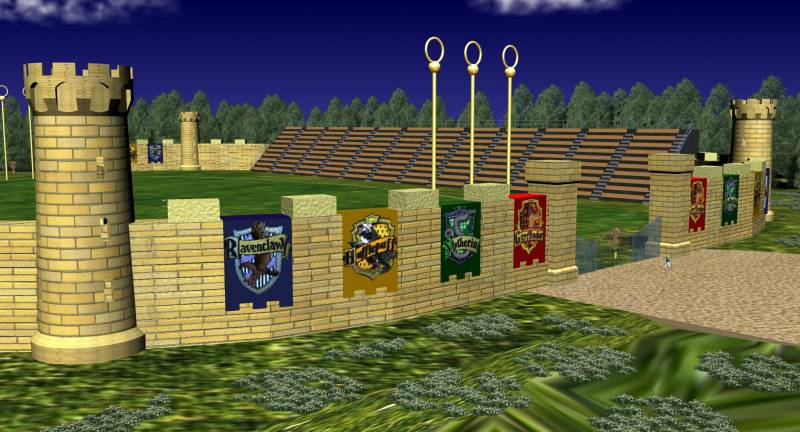 Quidditch pitch - front gate