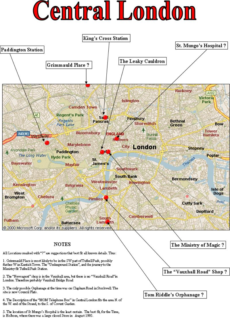 map of central london effigy