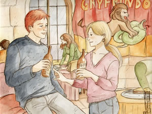 The Temptation of Ron Weasley, copyright Marta T.