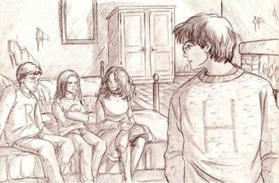 'Harry remained quite still as the impact of these words hit him. Then he wheeled around.' (OP23) © 2003 Marta T.