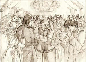 Slughorn's Christmas Party.