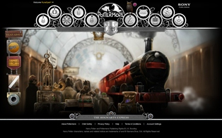 The Hogwarts Express on Pottermore