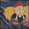 Trelawney as Munch's The Scream, copyright Red Scharlach